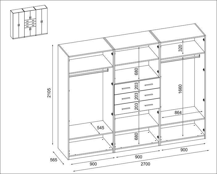 Szafa 270-210 - SZKIC (Copy)